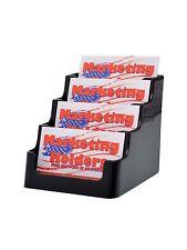 Business Card Holder 4 Pocket Black 4 Tier Gift Card Display Counter Organizer