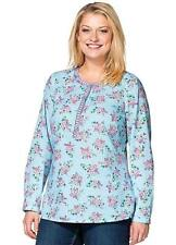 🌸 Sheego @ Kaleidoscope NEW Plus Size 20 Blue Floral Print Tunic TOP £45
