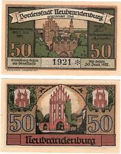 Germany 50 Pfennig 1921 Notgeld Neubrandenburg UNC Uncirculated Banknote