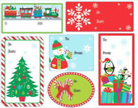 48 CHRISTMAS GIFT TAG STICKERS LABELS self adhesive green red round square cards