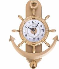 Analog Wall Clock Decorative Pendulum Gold Anchor Shape Wall Clock Free Shipping