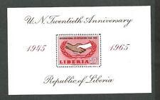 Liberia Block 34 ** U.N. Twentieth Anniversary 1965 postfrisch