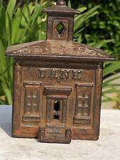 1872     CUPOLA BANK.   J & E STEVENS    4 1/8 X 3 3/8 X 2 3/4 INCHES