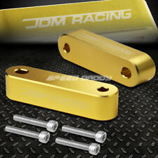 FOR 88-00 CIVIC/90-01 INTEGRA GOLD ALUMINUM HOOD RISER SPACER KIT AIR IN FLOW