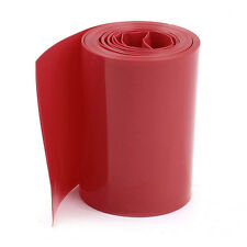 2M 50mm Width PVC Heat Shrink Wrap Tube Red for 2 x 18650 Battery Y1F6 P6K4 P0T2