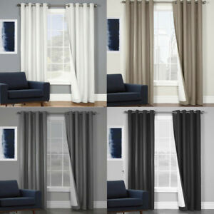 QUICKFIT CURTAINS PREMIUM FOAM THERMAL COATED BLOCKOUT EYELET CURTAIN PANELS
