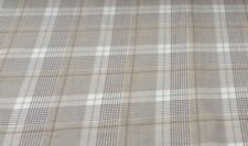 Hebrides Wool Check Plaid  Beige Prestigious 140cm w Curtain/Upholstery Fabric