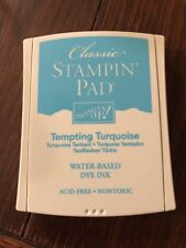 STAMPIN UP TEMPTING TURQUOISE CLASSIC INK PAD DYE