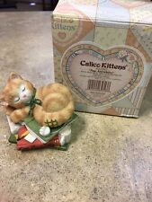 """Calico Kittens """"Nap Anywhere"""" Figurine With Box Collectible"""