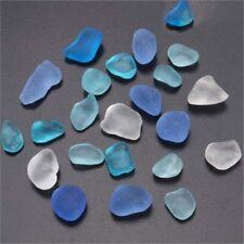 10-16mm Sea Beach Glass Beads Mixed Color Bulk Blue Purple Jewelry Pendant Decor