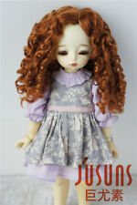 """6-7"""" Long Mid Parting Curly BJD Doll Wigs 1/6 Synthetic Mohair Doll Hair 4 Color"""