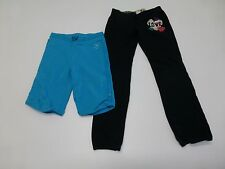 2 Pairs Pants Girls Size 7/8 Blue Shorts & Black Pants Great Condition