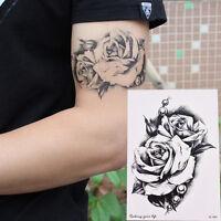 Makeup Rose Flower Tattoo Arm Body Art Waterproof Temporary Tattoo Stickers CQ