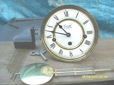 WALL CLOCK WESTMINSTER  MOVEMENT  COMITTI KEY AND  PENDULUM COMPLETE SEE VIDEO