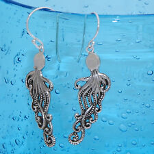 Sterling Silver Octopus Earrings Dangle Kraken