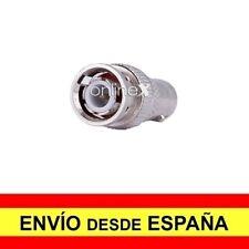 Adaptador Conector CCTV Hembra BNC COAXIAL a Macho BNC Plateado a4155