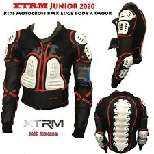 Motocross Bike Ride Protective XT Edge Kids Body Armour CE Approved White New