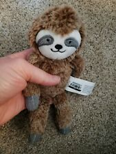 Plush Sloth Gray Baby Stuffed Animal Toy Rattle Nwt