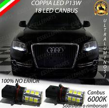 COPPIA LAMPADE POSIZIONE P13W 18 LED DRL 6000K AUDI Q5 CANBUS NO AVARIA