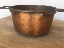 ANTIQUE French COPPER POT, Hand Tooled, c.1910-1930