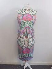 Asos Floral Vestido Midi Corte Espalda Size UK 12 Box4672 R