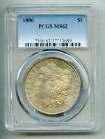 1886 Morgan Silver Dollar PCGS MS 62