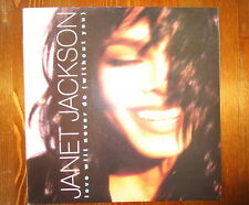 """JANET JACKSON RARE 7"""" LOVE WILL NEVER DO WITHOUT YOU 1990 INC PRESS RELEASE"""