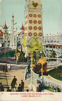 BROOKLYN NY – Coney Island Luna Park Electric Tower and Fountain