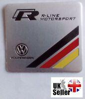 VW Volkswagen R-Line Motorsport 3D Metal Badge Emblem Sticker Decal UK