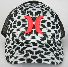 Hurley Half Mesh The One & Only Spots  Black Pink Trucker Hat Cap Hurley Surf