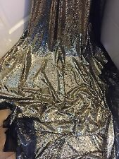 """1 MTR GOLD ALL OVER SEQUIN TULLE BRIDAL FABRIC..58"""" WIDE"""