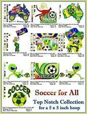 AUSTRALIAN SITE: Soccer for All Collection - for a 5 x 5 inch Hoop
