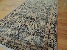 Antique 3x5 Sarough Sarouk Persian Oriental Area Rug Carpet Blue/Gray, Gold