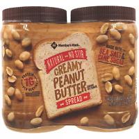 Member's Mark Natural No Stir Creamy Peanut Butter Spread (40 oz., 2 ct.) Hot