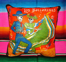 Day of the Dead Calaveras Catrina Sugar Skull Dancers Pillow Dia De Muertos