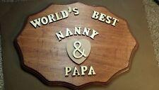 Handmade Best Happy Anniversary Grandma/Grandpa Plaque  Wood Gift / present #01