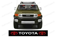 """TOYOTA WINDSHIELD BANNER 2 Logo For all TOYOTA Vehicles - Sizes 30"""" / 35"""" / 40"""""""