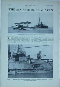 1914 WW1 ARTICLE & PICS AIR RAID ON CIXHAVEN BRITISH SEAPLANE OLIVER ROSS