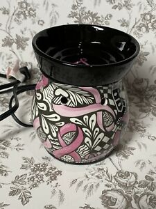 Scentsy Wax Warmer Retired Ribbons of Hope Breast Cancer Awareness Pink