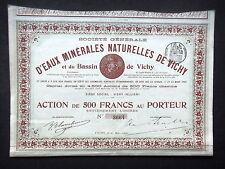 EAUX MINERALES NATURELLES DE VICHY - ACTION DE 500 FRANCS - 1900