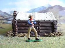 VINTAGE Marx Wild West Cowboy con fucile 1:35 dipinto
