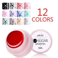 UR SUGAR 5ml Élastique Araignée Vernis Gel UV Soak Off Drawing Line Gel Nails