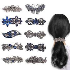 Retro Haarclip Haarklammer Schmetterling Strass Haarspange Haarschmuck Haarnadel