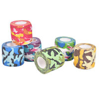 4.5m Outdoor Camo Printed Medical Self Adhesive Elastic Bandage Sports Wrap Ta^^