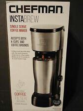 Chefman Coffee Maker K-Cup Grounds Single Serv InstaBrew Brewer Instant Reboil