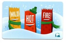 Taco Bell Mild Hot Fire Sauces Gift Card No $ Value Collectible