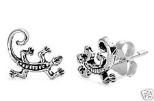 Lizard Stud Earrings Sterling Silver 925 Chic Tiny Reptile Jewelry USA Seller