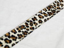 PERRI's Leopard Faux Fur nylon Guitar STRAP - new