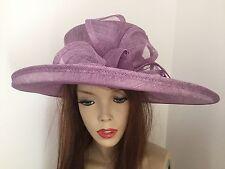 Lilac Wedding Hat Brim Formal Ladies Hatinator Womens Ascot Races Funeral
