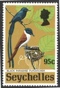 Seychelles 1972, Black Paradise Flycatcher,  mlh.